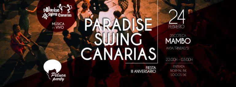 Fiesta aniversario Paradise Swing Canarias